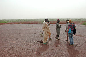 Bodendegregation in Burkina Faso (Foto K-E Linsenmair)