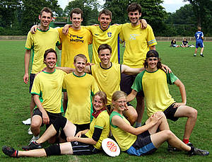 Das Ultimate Frisbee-Team