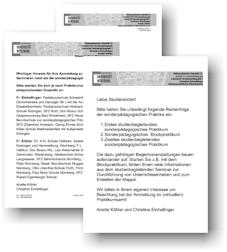 Praktikum Lehrstuhl Für Sonderpädagogik I
