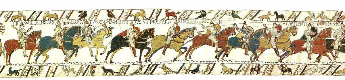 Section of the Bayeux Tapestry depicting the Battle of Hastings