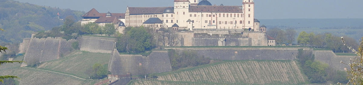 View to the Fortress Marienberg in Würzburg