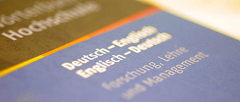 [Translate to Englisch:] Englisch-Deutsch-Wörterbuch