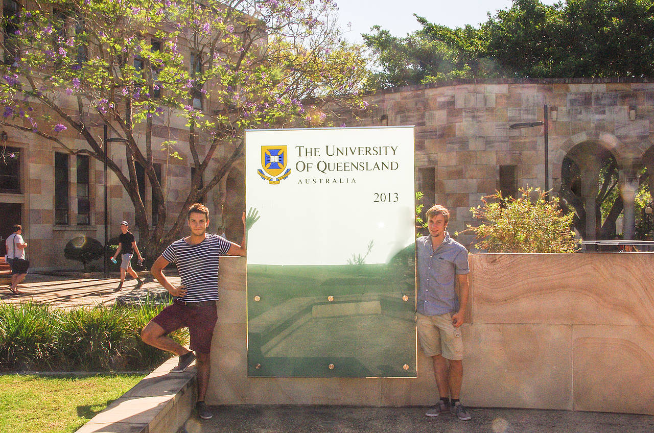 MCS-Studenten an der University of Queensland, Australien ...