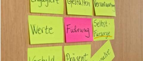 Post-its Fuehrung
