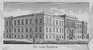 Depiction of the new anatomy building