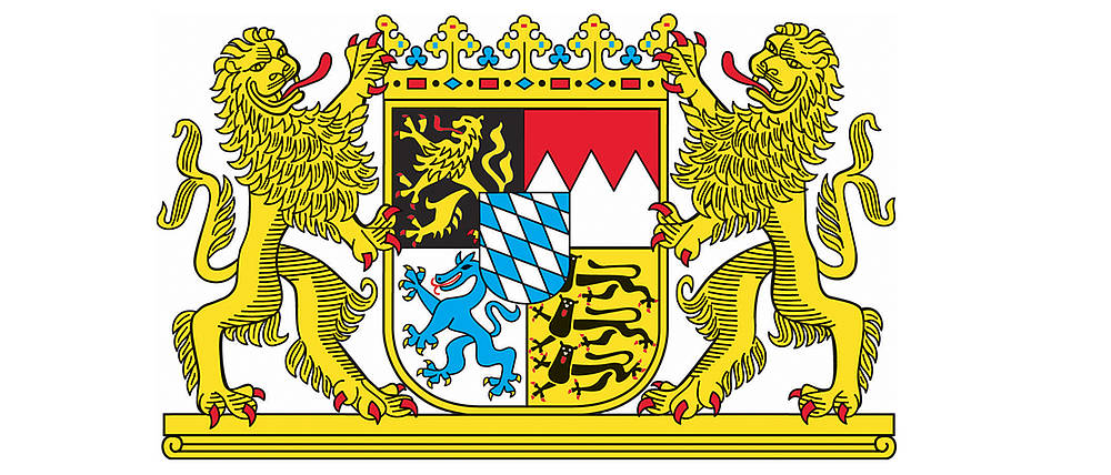 [Translate to Englisch:] Wappen des Freistaates Bayern