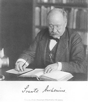 Svante Arrhenius in his later years .