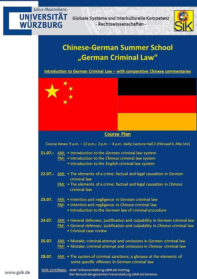 Internationale Summer School Zum Thema German Criminal Law