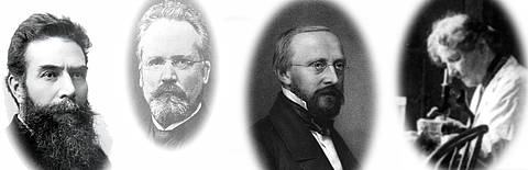 The Physicist Wilhelm Conrad Röntgen, the Psychologist Oswald Külpe, the Physician Rudolf Virchow, the Biologist Marcella Boveri - some of the famous personalities teaching and doing research at the University of Würzburg.