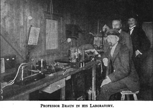 Prof Braun in his Laboratory