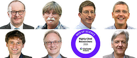 Six Highly Cited Scientists and one Citation Laureate.