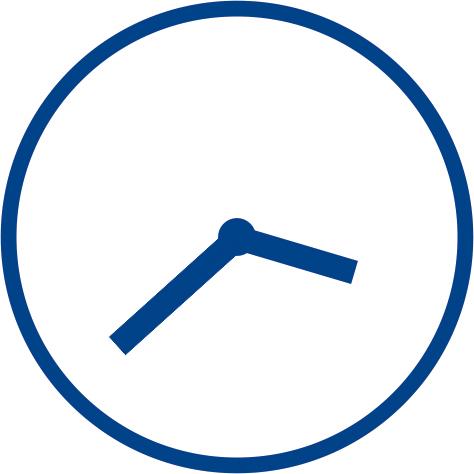Icon Uhr ohne Ziffern